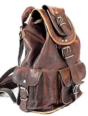 Phoenix Craft Casual Real Genuine Leather Backpack Fashion Shoolbag Camping Bag Shoulder Bag Leather Rucksack ...