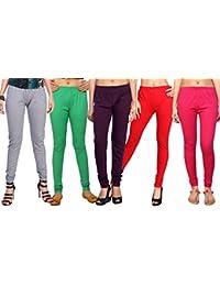 Comix Cotton Hosiery Fabric Women Legging Combo Set Of 5 - B01KOBSZ0Q