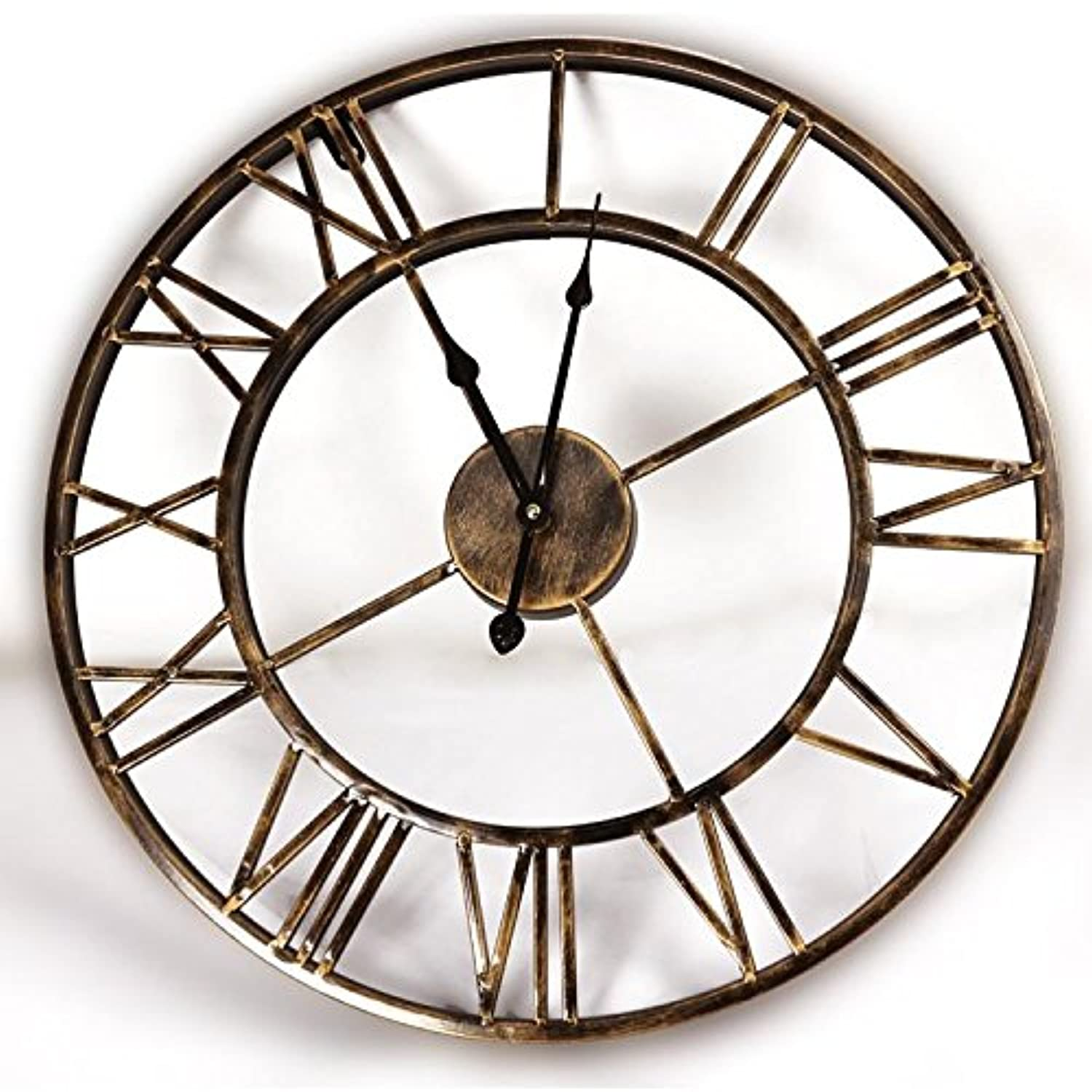 Jyg 20inches diy vintage 3d large wall clock wrought iron - Reloj pared vintage ...