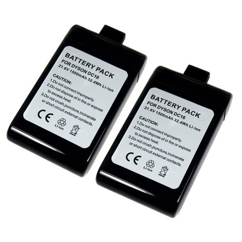 2 Pack Li-On 1500Mah Replacement Vacuum Cleaner Battery For Dyson Dc16 Dc16 Animal Dc16 Root 6 front-420084