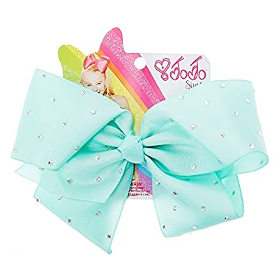 Claire's Accessories Jojo Siwa Large Rhinestone Mint Signature Hair Bow