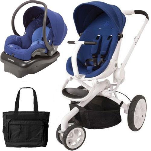 Quinny Moodd Pushchair In Blue Base With Maxi Cosi: Quinny CV078BXQ Moodd Stroller Travel System With Diaper