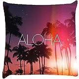 Snoogg Aloha Cushion Cover Throw Pillows 16 X 16 Inch