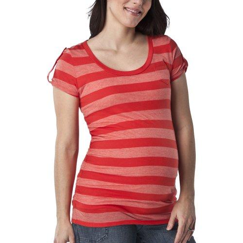 Liz+Lange%C2%AE+for+Target%C2%AE+Maternity+Short-Sleeve+Fashion+Top+-+Orange+Stripe%C2%A0S