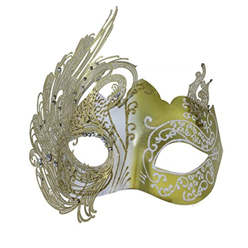 Metal with Rhinestone Laser Cut Ladies Masquerade Mardi Gras Ball Mask