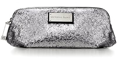 Best Cheap Deal for Victoria's Secret Sparkly Sliver Cosmetic Makeup Bag Limited Edition by Victoria's Secret - Free 2 Day Shipping Available