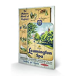 Vintage - Leamington Spa Cuadro De Madera (60 x 40cm)