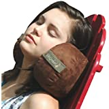 Kuhi Comfort Original Travel Pillow in Convenient Carry Case 2 Luxurious Cushions Cradle Your Head on the Sides