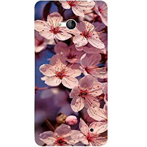 Casotec Pink Flowers Pattern Design 3D Hard Back Case Cover for Microsoft Lumia 640