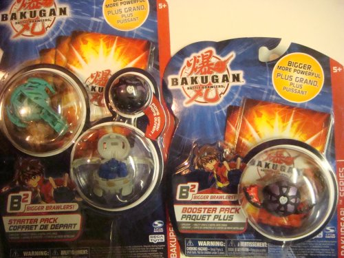 Buy Low Price Spin Master Bakugan Ultimate Bralwers Ventus Limulus, Haos Hammer Gorem, Darkus Mystery Marble – Darkus Wormquake Booster 4 Brawlers Figure (B001P7G5YC)