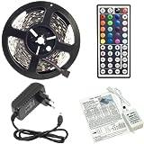 5 Meter KOMPLETT SET: RGB LED STRIP 5 METER - Controller, 44 Tasten Fernbedienung und Netzteil. Mehrfarbig viele Funktionen