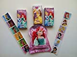One Disney Princess Antibacterial Hand Wipes Resealable with Vitamin E & Aloe (5.5 X 7.87) 15 Counts + 3 Disney Princess Pocket Tissues (10 Pc, 3 Ply) + One Strip of Disney Princess Stickers + One Strip of Disney Fairies Stickers (Each Strip Contains 6 Stickers, 1.5 X 1.5 Each). Bundle of 6 Items.
