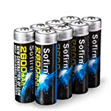 Sofirn 8 Pack 2600mAh AA Ni-MH Rechargeable Batteries, High capacity, Pre-charged Basic Batteries