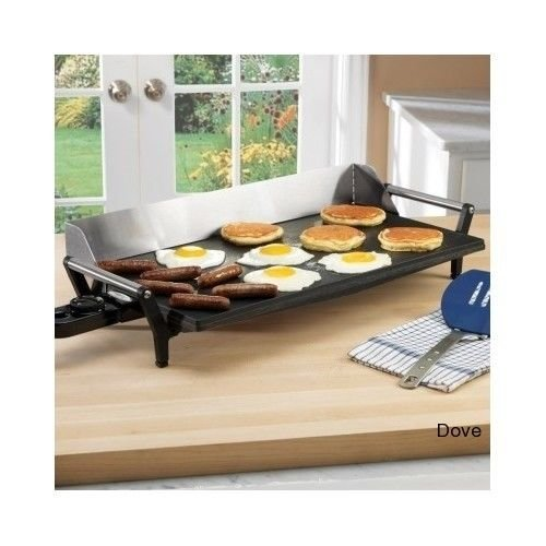 Brand New Professional Nonstick Griddle Electric Portable Grill Pancakes Breakfast Kitchen