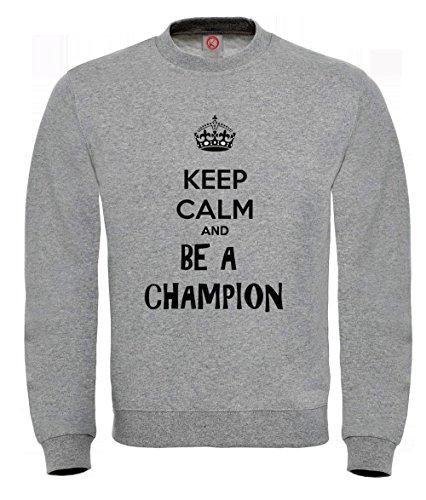 Felpa Keep calm champion Gray