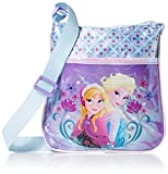 Global Design Concepts Girl's Frozen Passport Crossbody, Purple, One Size