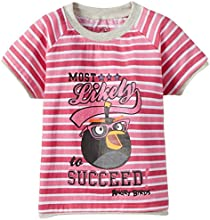 Angry Birds Girls' T-Shirt (ABGTOP35_Pink_5-6 Years)