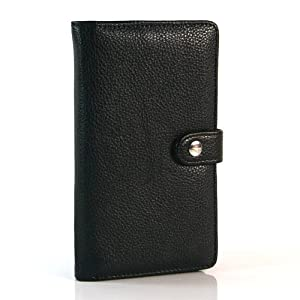 Black / Wallet PU Leather Flip Case / Cover / Skin / Shell For Samsung Galaxy Note / GT-N7000 / i9220 +Free Screen Protector (7194-5)