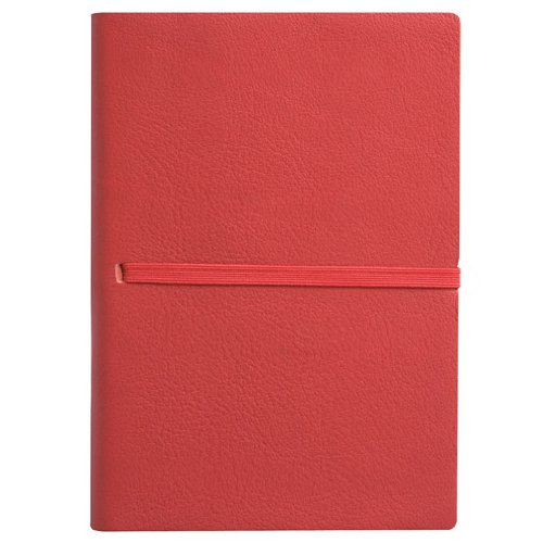Eccolo Made in Italy Leather 5 x 7-Inch Lined Elastico Journal, Red (Leather Journal Made In Italy compare prices)