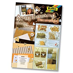 folia® Scrapbooking Deco-Set 25x35cm Nr. 12102 chocolate