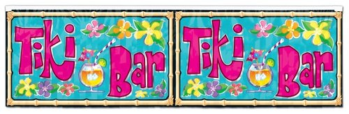 Metallic Tiki Bar Banner 120 cm