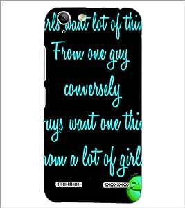 PrintDhaba Quote D-4413 Back Case Cover for LENOVO LEMON 3 (Multi-Coloured)