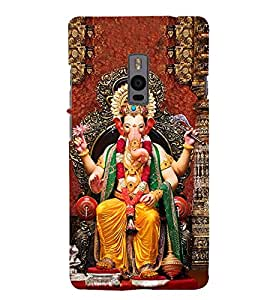 Lord Ganesha 3D Hard Polycarbonate Designer Back Case Cover for OnePlus 2 :: OnePlus Two