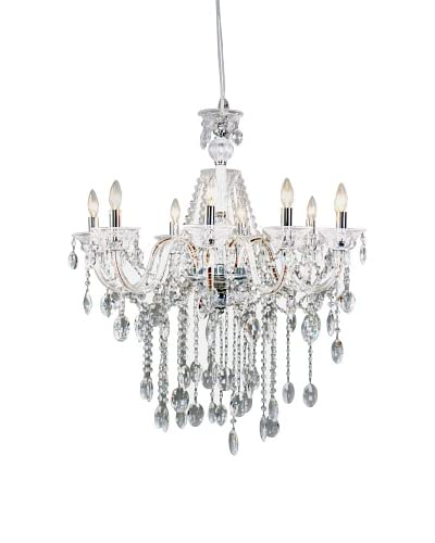 Control Brand Octopussy LED Chandelier, Clear