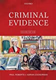 Criminal Evidence (0199231648) by Roberts, Paul