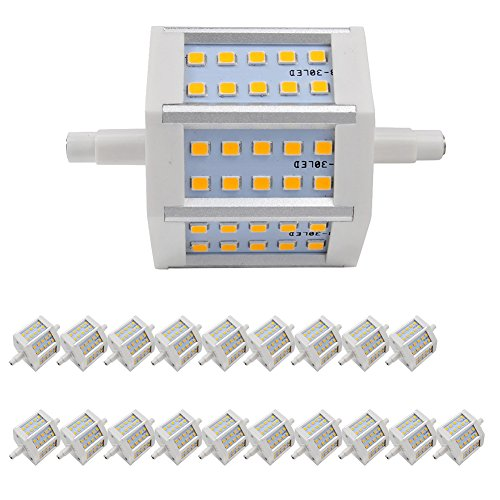 20X R7S Dimmable Light Led Bulb 6W Warm White 3000-3500K Smd 2835 Low Consumption 360Lm Ac 85-265 V