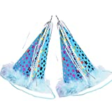 PUPTECK 2pcs/set Dog Party Hat Pet Cat Birthday Accessories Costume , Blue Small