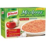 Knorr Red Rice Seasong Mix Mi Arroz - 1 Box of 4 - 0.59 Ounce Packets