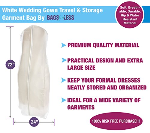Bags For Less White Wedding Gown Travel Amp Storage Garment