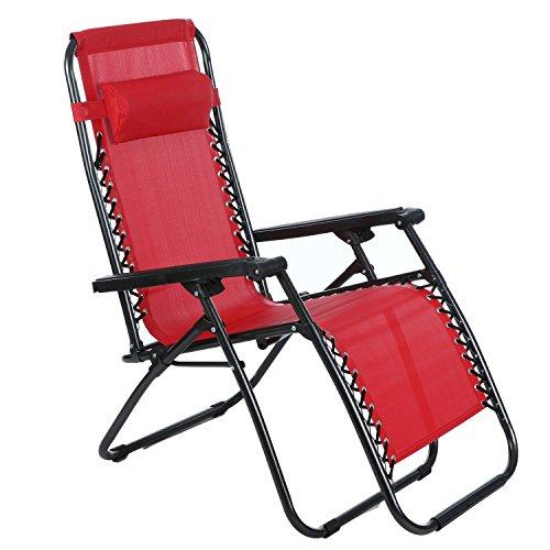 Ancheer Folding Zero Gravity Reclining Lounge Portable Garden Beach Camping Outdoor Chair