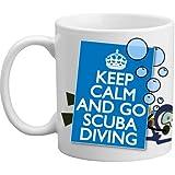 Freelogix Keep Calm And Go Scuba Diving Swimming Divers Gift Mug