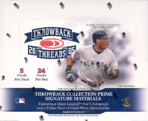 2005 Donruss Throwback Threads Baseball Hobby Box