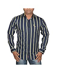 Hunk Men's Blue Cotton Shirt - B00TB63J7A