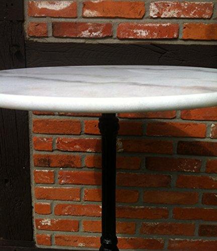Bistrotisch marmor gahalia gartentisch wei for Bistrotisch marmor