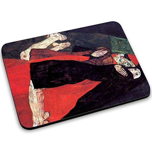 schiele-cardinal-and-nun-the-caress-mouse-pad-tappetino-per-mouse-mouse-mat-con-disegno-colorato-ant