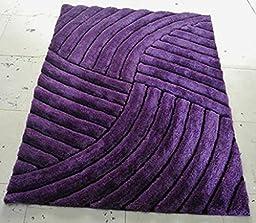 Shag Area Rug Design 3-D 800 (Lilac, 8 Feet X 10 Feet)