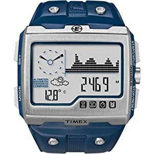 Timex Expedition WS4 Blue Strap, Silver/Blue Face