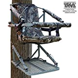 Leader Accessories Aluminum Climbing Hunting Deer Tree Stand with Safety Vest Harness, 250lb Capacity
