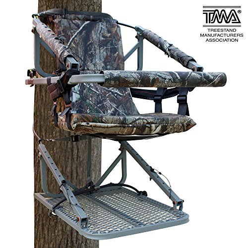 Learn More About Leader Accessories Aluminum Climbing Hunting Deer Tree Stand with Safety Vest Harne...