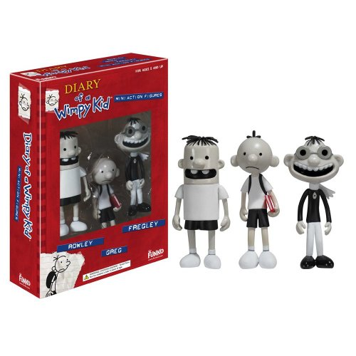 Diary Of A Wimpy Kid Action Figure Bundle 3-pack (includes Greg Heffley, Rowley & Fregley)
