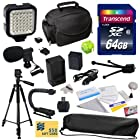 Advanced Accessory Kit for Canon PowerShot G1X G16 G15 SX50HS SX50 HS Digital Camera Includes 64GB High Speed Memory Card + Card Reader + Opteka NB-10L 1800mAh Ultra High Capacity Li-ion Battery Pack + Battery Charger + Deluxe Padded Carrying Case + Professional Photo / Video 60 Tripod + Professional Grip Stabilizing Action Handle + High Power 36 Pin LED Video Light + Directional Mini-Shotgun Microphone + Hot Shoe Spirit Level + Cleaning Kit with LCD Screen Protectors + $50 Photo Print Gift Car