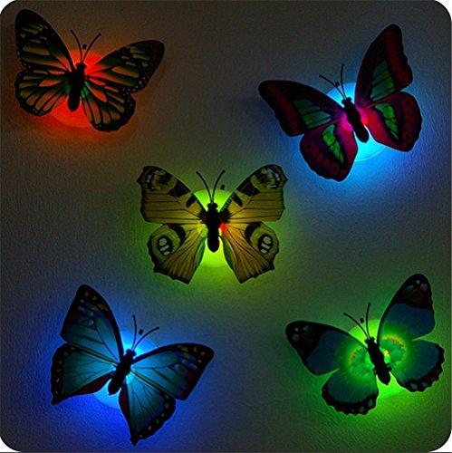 Punto de Luz Auxiliar Para Dormitorio Infantil con Mariposas