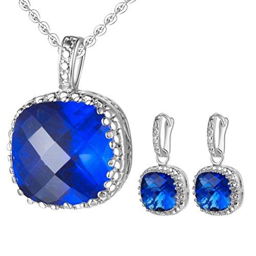 Eli Fashion(Tm) Bridal Wedding Cubic Zirconia Pendant Necklace With Matching Stud Earrings Jewelry Set (Ep0148)