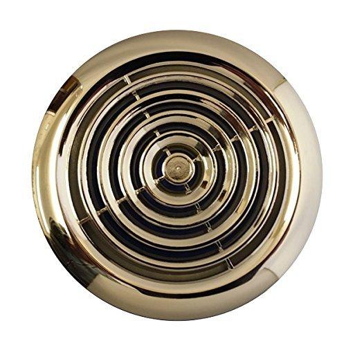 Extractor Baño Higrometro:Rejilla para conductos de ventilación (100 mm), cromado