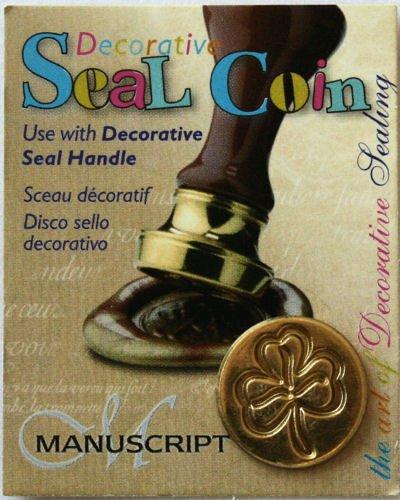 Manuscript Pen 727SHR Decorative Seal Coin, 0.75-Inch, Shamrock - 1