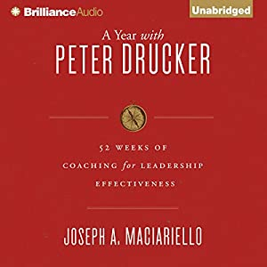 A Year with Peter Drucker Audiobook